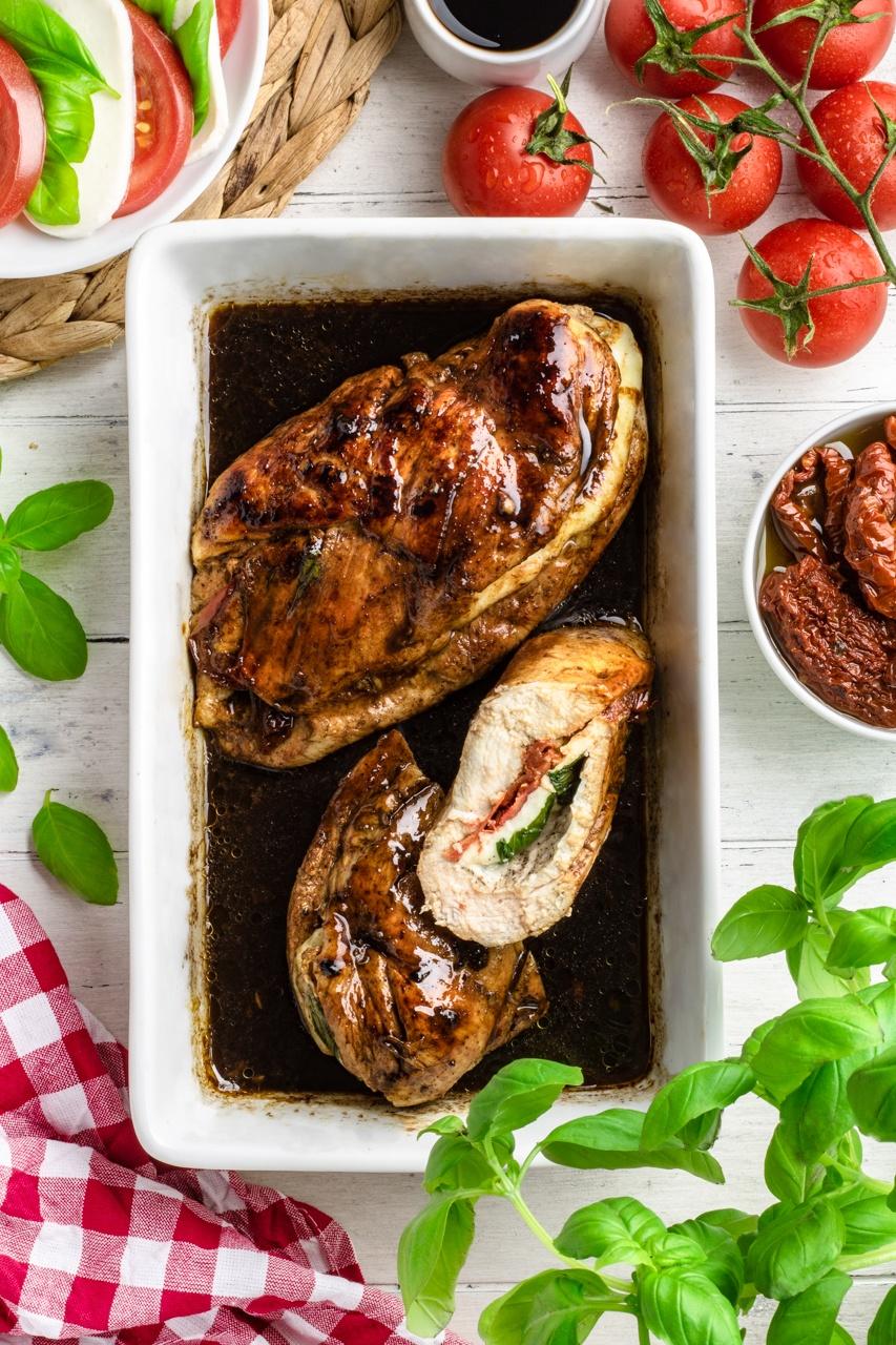 Balsamiczny kurczak caprese (7 składników)